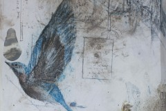 """Only in Flight, Mixed Media, 12"""" x 16"""""""