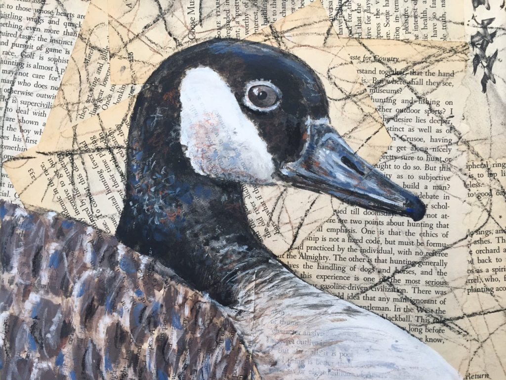 "Mother Goose, Mixed Media, 12"" x .5"" x 8"""